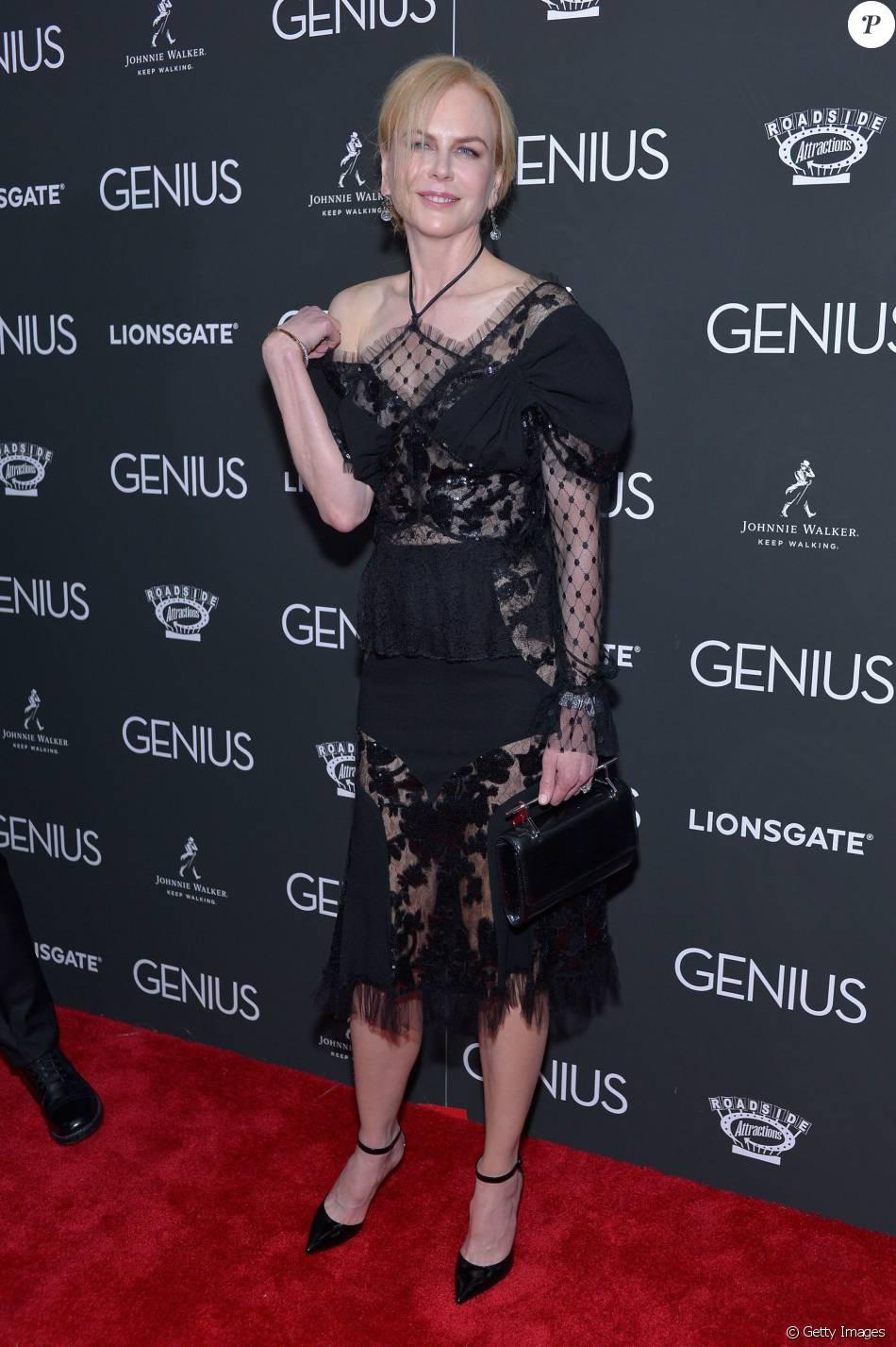 Nicole Kidman usa look transparente em pré-estreia em Nova York, neste domingo, 5 de junho de 2016