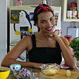 Gabriela Moreyra, protagonista da novela 'Escrava Mãe', ensina receita de lasanha low carb, com abobrinha no lugar da massa. Confira o vídeo!