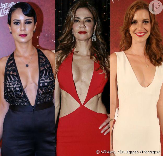 Veja as famosas que apostam em looks com decote para brilhar nos eventos