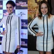 Paloma Bernardi e Renata Domínguez usam mesmo vestido em evento: 'Sem ação!'