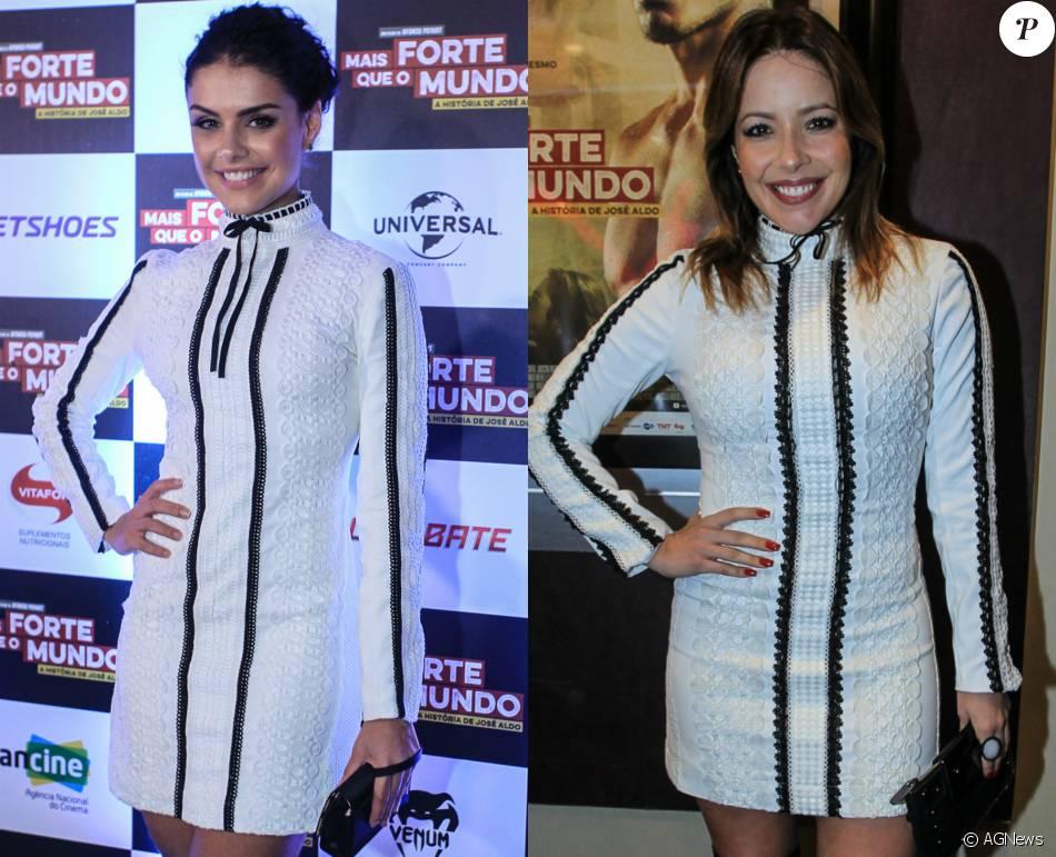 Paloma Bernardi e Renata Dominguez usam mesmo vestido em evento, nesta quarta-feira, 8 de junho de 2016