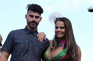 Viviane Araújo participa de Parada LGBT com o noivo, Radamés, no Rio de Janeiro