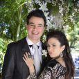 Carlito (Anderson di Rizzi) pede Valdirene (TAtá Werneck) em casamento mais uma vez, em 'Amor à Vida'