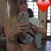 Aline Gotschalg exibe boa forma menos de dois meses após dar à luz: 'Um arraso!'