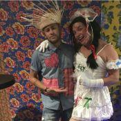 Neymar brinca com David Brazil em arraial: 'Minha noiva ontem'. Fotos da festa!