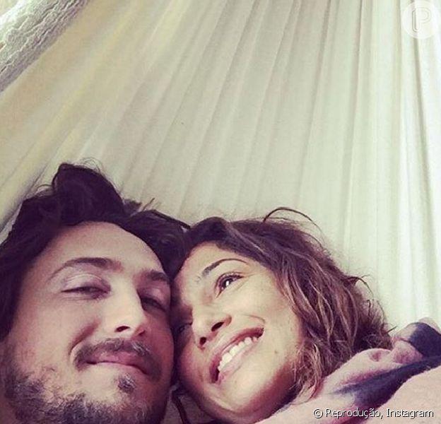Camila Pitanga e Igor Angelkorte declararam o amor que sentem um pelo outro na web nesta segunda-feira, 20 de junho de 2016
