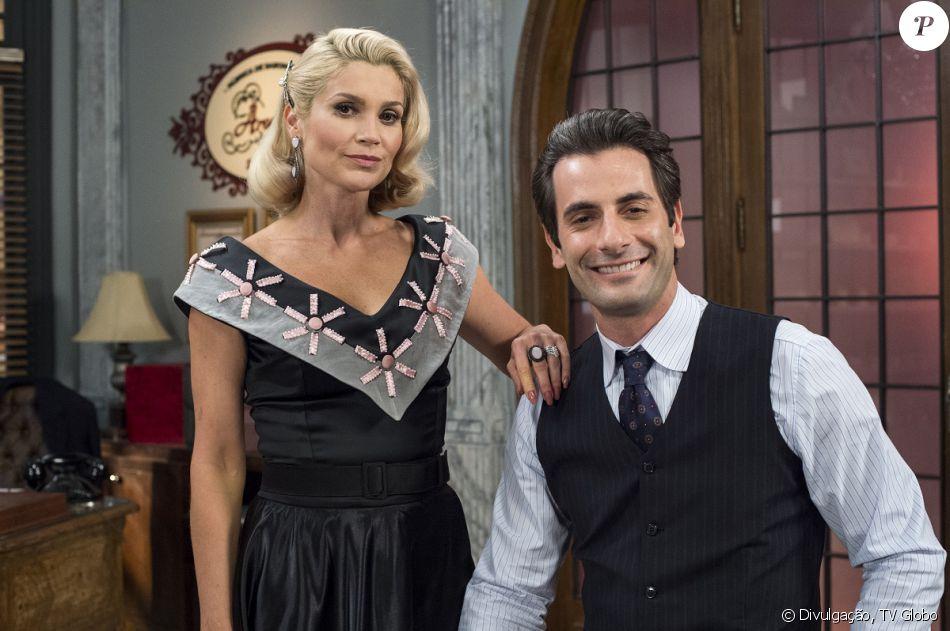 Sandra (Flávia Alessandra) quer se casar com Araújo (Flávio Tolezani) para ficar com seu dinheiro e depois matá-lo, na novela 'Êta Mundo Bom!', em junho de 2016