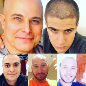 Enzo Celulari e família raspam a cabeça em apoio a Edson Celulari. Fotos!