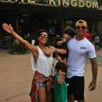 A atriz já visitou um dos parques temáticos da Disney com omarido, Carlos Eduardo Baptista e os filhos Pedro e Antônio