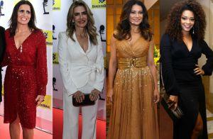 Veja os looks de Malu Mader, Maitê Proença e mais famosas em premiação. Fotos!
