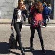 Marina Ruy Barbosa combina peças de couro e calça detonada para montar look descolado