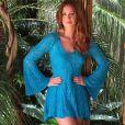 Marina Ruy Barbosa ama modelitos confortáveis feitos de crochê