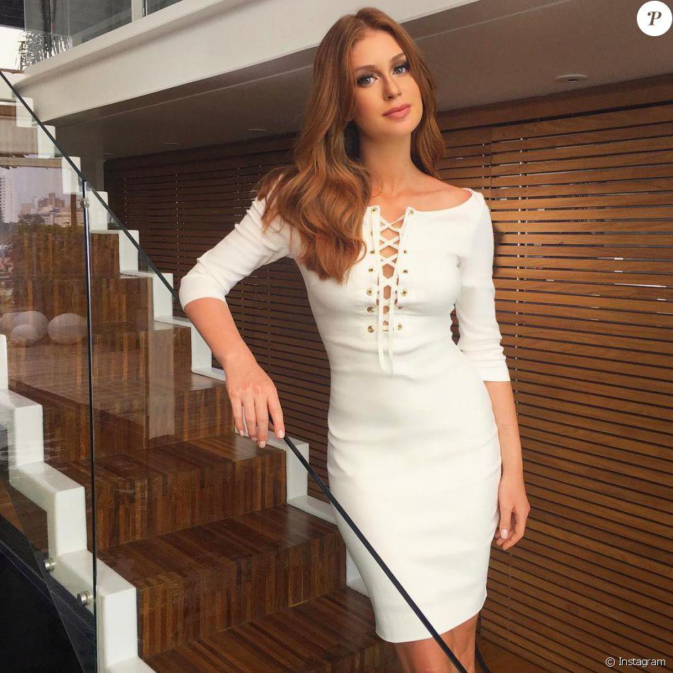 2ba25f2d0 Marina Ruy Barbosa ficou superelegante com vestido branco da marca Cajo  Fashion
