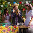 Durante o 'Estrelas' deste sábado, 25 de junho de 2016, cujo o tema foi festa Junina, Camila foi parabenizada por Angélica e outros atores convidados do programa