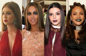 A tendência é combinar! Veja as famosas que usam a mesma cor no look e no batom