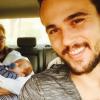 Bruno Ferrari curte folga de 'Liberdade' com o filho, Antônio, e Paloma Duarte