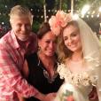 Angélica se veste de noiva caipira para arraiá em sua casa no Rio de Janeiro, com presença de Miguel Falabella e Susana Vieira, em 3 de julho de 2016