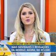 Bárbara Evans foi a entrevistada do progama 'Hoje em Dia', da TV Record e contou que quer ser apresentadora