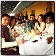 Bruna Marquezine, Bruno Gissoni e parte do elenco de 'Em Família' almoçam junto em Viena, na Áustria, em 15 de novembro de 2013