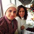 Bruno Gissoni e Roberta Almeida posam juntos durante almoço em Viena, na Áustria