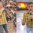 Apresentadores também não escapam! Luciano Huck, no 'Caldeirão', e Serginho Groisman, no 'Altas Horas', usaram a camisa amarela no mesmo dia na TV