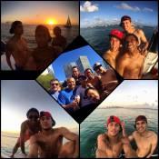Neymar curte folga da Seleção ao lado de Robinho e Thiago Silva, em Miami