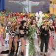 Gaby usou figurino extravagante para cantar ao lado de Anitta e Preta Gil, no programa 'Esquenta'