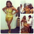 A cantora caprichou no figurino para se apresentar no Show da Virada, que vai ao ar na TV Globo no primeiro dia de 2014