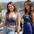 Morena (Nanda Costa) se sente ameaçada quando descobre que a mãe está namorando Russo (Adriano Garib) em 'Salve Jorge'