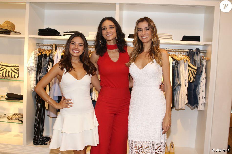 3bab4e83d Isis Valverde prestigiou o lançamento da nova coleção da Le Lis Blanc com  Debora Nascimento e Monica Martelli
