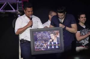 Luan Santana comemora 300 mil cópias de CD e DVD vendidas: 'Tudo o que sonhei'