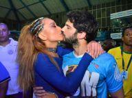 Sabrina Sato troca beijos com o namorado, Duda Nagle, e cai no samba em ensaio
