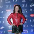Guilhermina Guinle usou vestido Osklen e jaqueta de couro vermelho Diorno desfile do 'Elle Fashion Preview', no AquaRio, na noite desta terça-feira, 11 de outubro de 2016