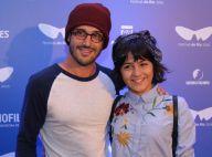 Giullia Buscacio e namorado, cinegrafista de 'Velho Chico', vão a cinema no Rio