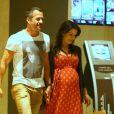 Malvino Salvador e Kyra Gracie aproveitaram a segunda gravidez da esportista juntos
