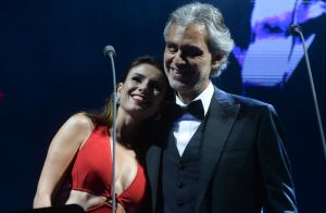 Paula Fernandes se emociona em dueto com Andrea Bocelli e para de cantar. Vídeo!