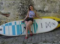 Ex-BBB Cacau experimenta stand up paddle e exibe boa forma após cirurgias. Vídeo