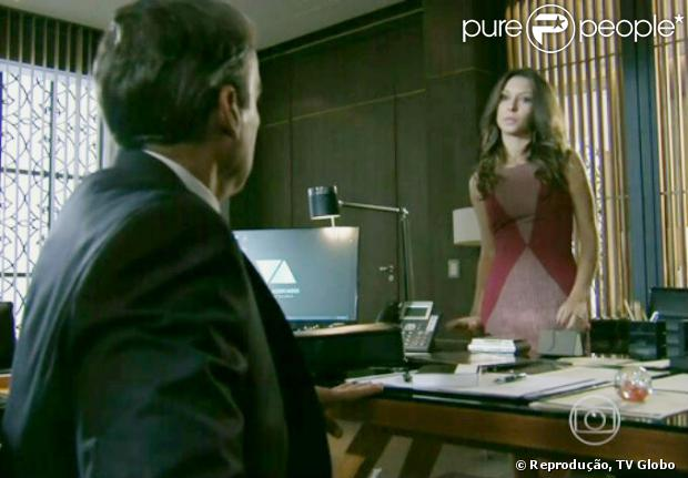 Fernanda (Day Mesquita) diz a Thomaz (Alexandre Borges) que ouviu uma dicussão dele com LC (Antonio Calloni), em 'Além do Horizonte', em 25 de dezembro de 2013