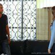 Fernanda (Day Mesquita) também conta para Thomaz (Alexandre Borges) que sabe que ele manda dinheiro para LC (Antonio Calloni) através de uma conta secreta, em 'Além do Horizonte'