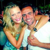 Roger Flores assume namoro com modelo em festa de réveillon no Ceará