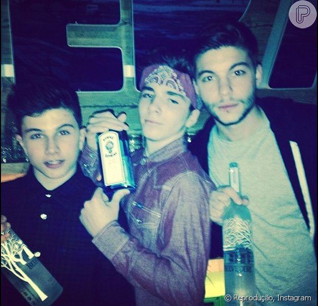 Madonna posta foto do filho Rocco, de 13 anos, com bebida e recebe críticas no Instagram, em 4 de janeiro de 2013