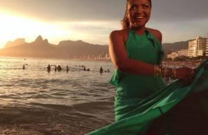 Gaby Amarantos exibe curvas em gravação de clipe internacional para a Copa