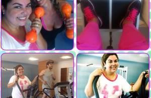 Fabiana Karla, de 'Amor à Vida', encara treino pesado na academia: 'Eu me cuido'