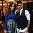Neymar e Bruna Marquezine reataram o namoro no ano passado, mas ainda não assumiram a reconciliação. Na foto de 2014, o jogador prestigiou a atriz na exibição do último capítulo da novela 'Em Família'