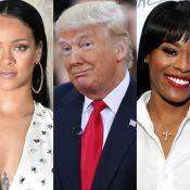 Rihanna tem telefone divulgado por rapper após criticar governo de Donald Trump