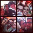 Giovanna Antonelli compartilha fotos ao lado de Alexandre Nero, Fernando Torquatto e Osmar Silveira