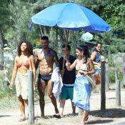 Lucas Lucco, de sunga, e Juliana Alves gravam 'Sol Nascente' em praia. Fotos!