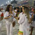 Fátima Bernardes desfilou pela Grande Rio após ter narrado, no último final de semana, os desfiles oficiais