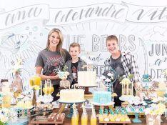 Ana Hickmann faz festa de aniversário tripla com filho e sobrinho: 'Incrível'