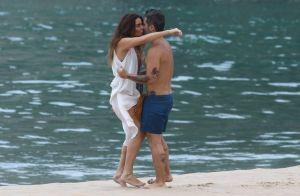 'Sol Nascente': Giovanna Antonelli e Bruno Gagliasso gravam lua de mel na praia